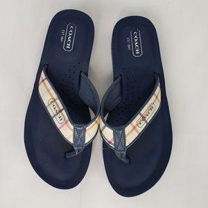 Coach Jolie Plaid Flip Flop Sandals